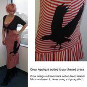 Crow Applique