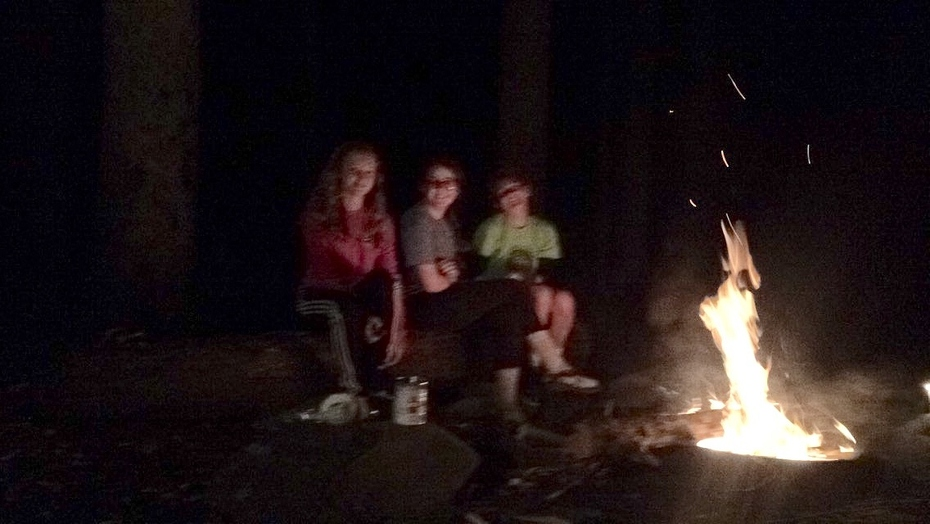 We chose to have a fire
