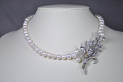 Vintage Freshwater Pearl and Crystal Necklace