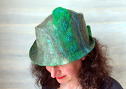 FeltHappiness : selection of recent hand felted, handmade hats