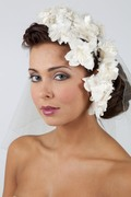 Floral Silk Bridal Headpiece