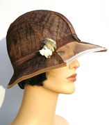 brown sinamay cloche_feltgoood 3