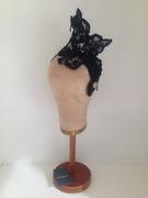 Wired Black Lace Headband by Murley & Co Millinery