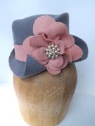 Custom Wool Bridal Steampunk Riding Hat