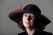 Black Straw Portrait Hat Women Millinery