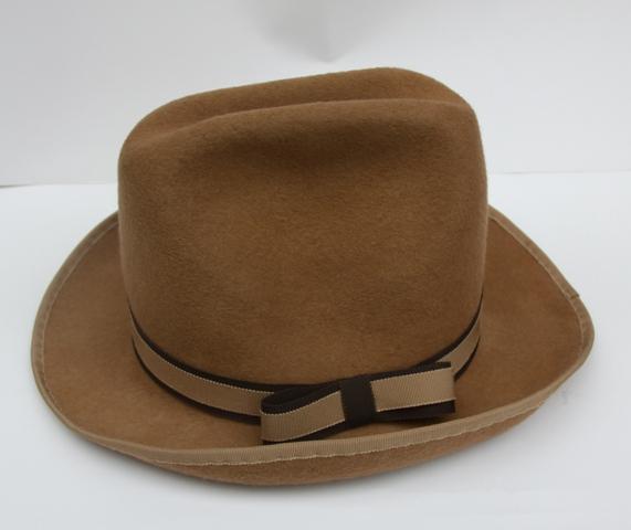 Camel Beige Felt Fedora Unisex Hat