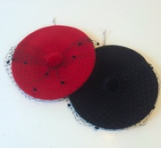 Berets with veiling by Anastasia Frei