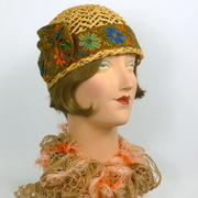 Natural Woven Straw Cloche Hat