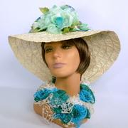 Large Brim White Straw Kentucky Derby Hat