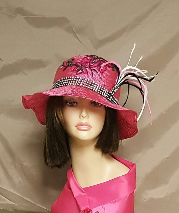 hot pink parasisal straw hat