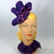 Purple & Magenta Fascinator Hat