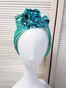 Embellished Turban in Turquoise