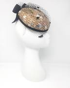 bespoke hat with hand embroidered lace