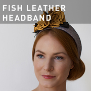 G16 - FISH LEATHER HEADBAND