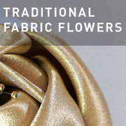 38 - TRADITIONAL FABRIC FLOWERS