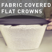 28 - FABRIC COVERED FLAT CROWNS