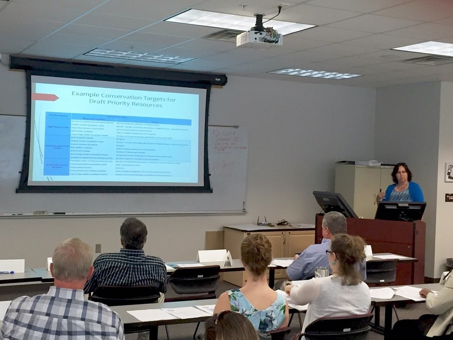 PFLCC Conservation Targets for Draft Priority Resources workshop_Beth Stys kicking off workshop in Tallahassee, 9.19.2016