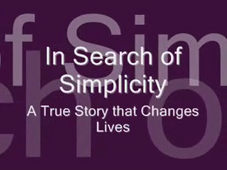 VideoTrailer for In Search of Simplicity