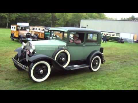 Watch 22 Ford Model A's Drive In Museum