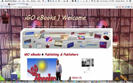 iGO eBooks } Website Front page