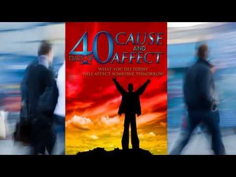 40 Days Cause and Affect - Book Trailer - Pastor Cory Pariseau - Author