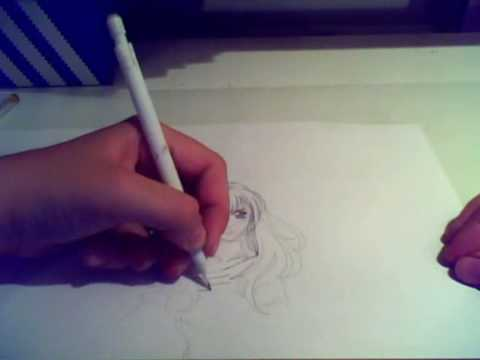 Me drawing a mangagirl