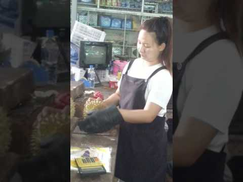 Picking out Durian in Thailand