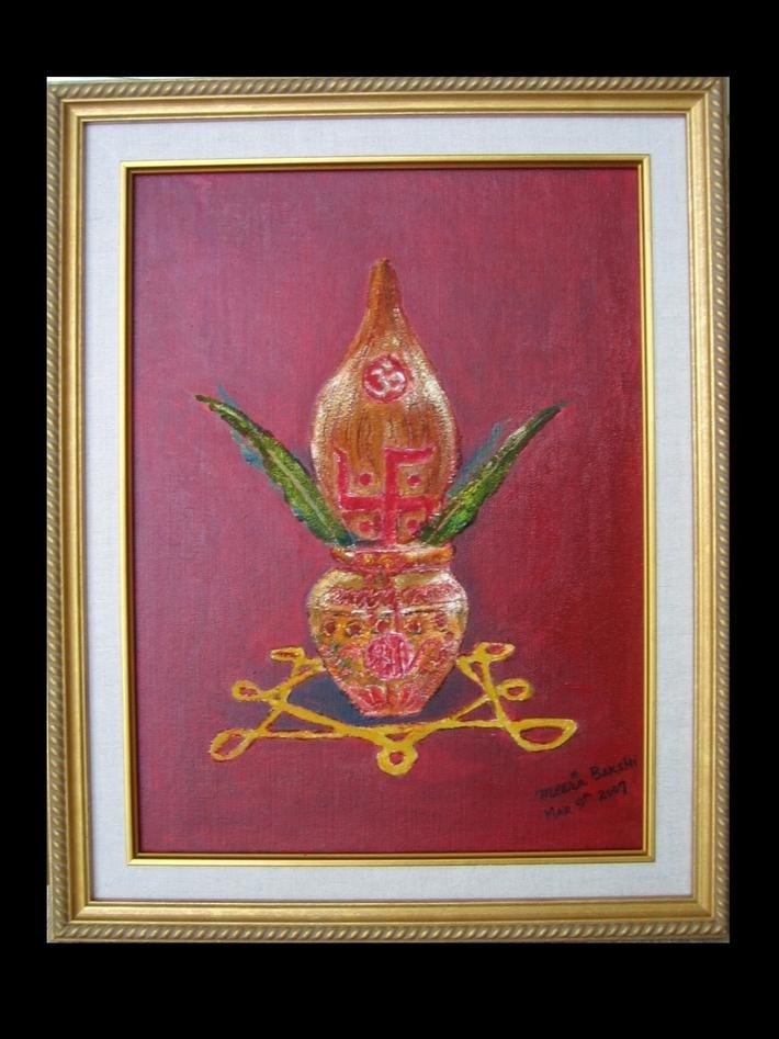 Framed Kalash with Aum