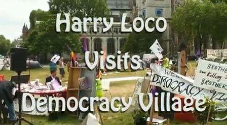 HarryVisitsDemocracyVillage
