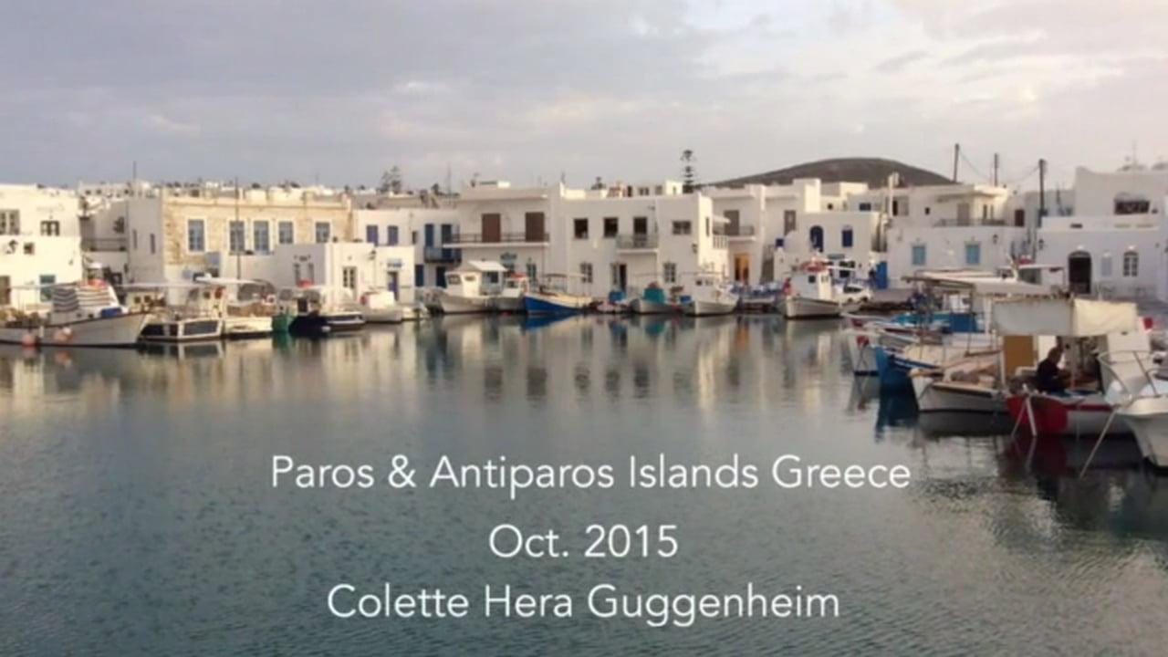 Antiparos /Paros Colette H.Guggenheim 2015 Oct.