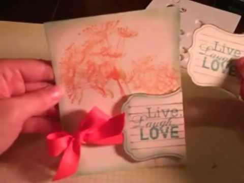 AUG 1 2011, UnityTV Episode #22 Maren's 5 Minute Card, Donna Downey and Simple Stories Stamps