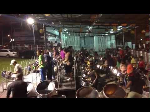 Exodus Steel Orchestra  practicing for 2013