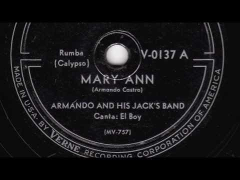 Mary Ann [10 inch] - Armando and his Jack's Band -1946
