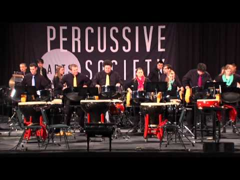 Dan is the Man (in the Van) performed by Iowa East - West Percussion Ensemble at PASIC 2013