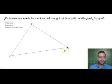 ¿Cuánto es la suma de los ángulos internos de un triángulo?