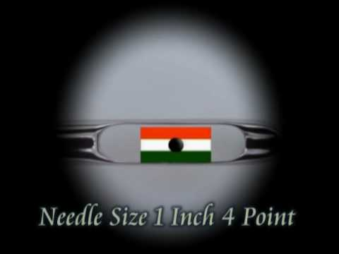 Indian Flag In The Eye Of A Needle