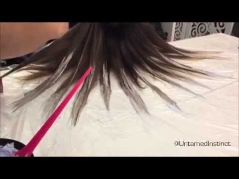 HairExperiment1 #FluidHairPainting with Tanya Ramirez