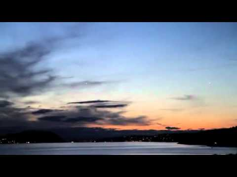 Multiple UFOs flying sighted flying above Oslo, Norway 13th August 2011
