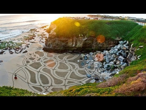 Andres Amador's Earthscapes: Art that Goes Out with the Tide | KQED Arts