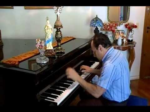 NOSSA SENHORA DE APARECIDA/ musica hino cantico religioso catolico popular brasil/ piano solo igreja