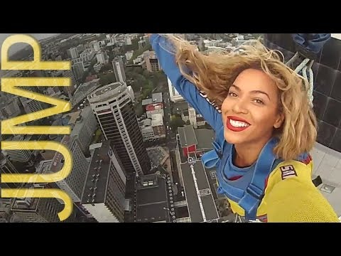 Beyonce Bungee Jumps 629 Feet Off Of The Auckland Sky Tower