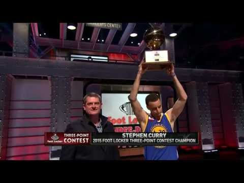 Stephen Curry Wins the 2015 Foot Locker Three-Point Contest