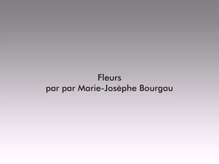 Fleurs par Marie-Josèphe Bourgau