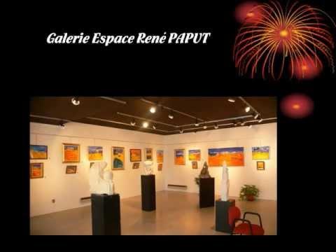 Marie-France BUSSET Exposition à la Galerie René PAPUT à Chamalières en 2008.wmv
