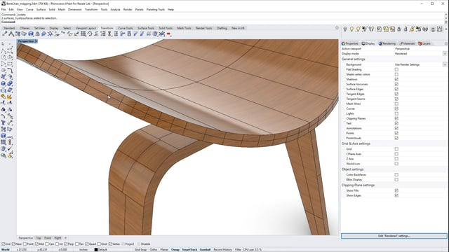 Materials and texture mapping in Rhino 6 for Windows