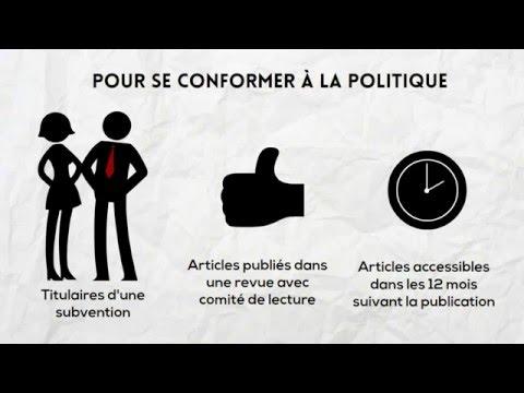 Politique des trois organismes sur le libre accès aux publications