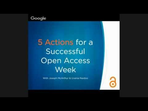 Best Actions for Open Access Week 2015