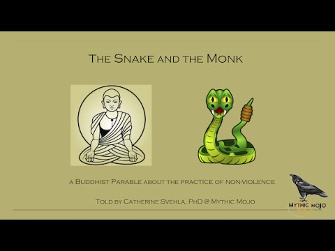 The Snake and the Monk: A Buddhist Parable
