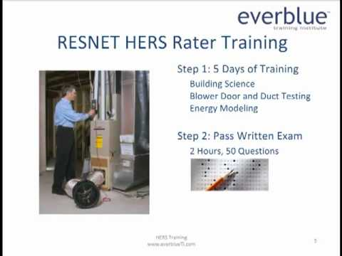 Learn about RESNET HERS Rater Training and Certification