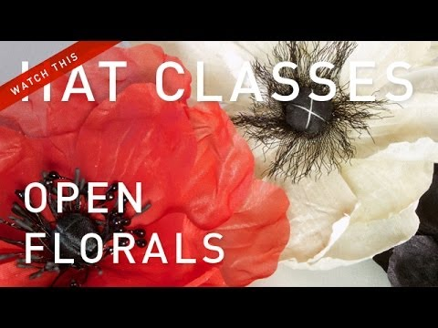 Hat Classes - French Flower Making Open Florals
